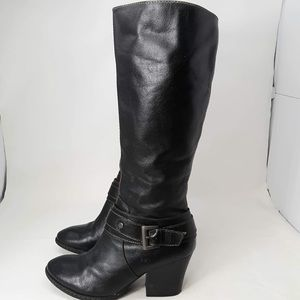 BOC Black Tall Buckle Boots